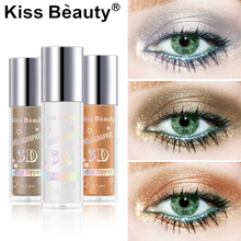 Kissbeauty high light lying silkworm brightening liquid pearlescent shining diamond eyeshadow 6 colors optional