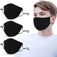 10 шт., черная маска для взрослых, регулируемая Пыленепроницаемая маска PM2.5, хлопковая маска для губ, Моющиеся Многоразовые наружные маски дл...