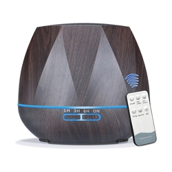 500Ml Remote Control Aroma Diffuser Ultrasonic Cool Mist Humidifier Air Purifier 7 Color Change Led Night Light For Office Home|Nawilżacze powietrza|AGD -
