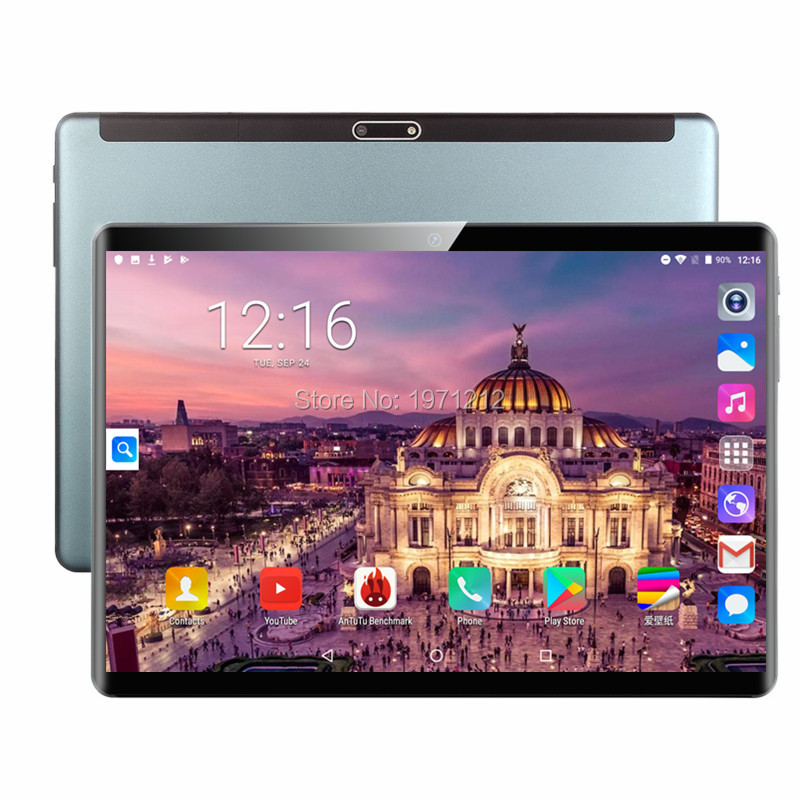 2019 Global Version Android 9.0 OS 10 Inch Tablet Octa Core 6GB RAM 64GB  ROM 1920*1200 Dual SIM Cards Tablet 10.1 2.5D