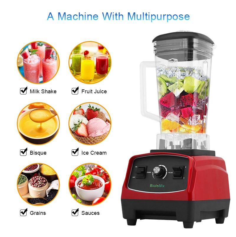 H2bcd1f655699449b927886c3e1aa3b34Z BPA Free 3HP 2200W Heavy Duty Commercial Grade Blender Mixer Juicer High Power Food Processor Ice Smoothie Bar Fruit Blender