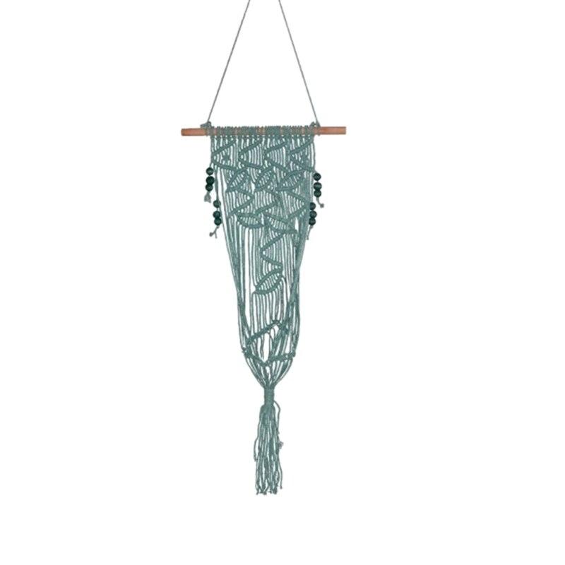 Hot Sale 1Pcs 110X35Cm Tassel Weaving Hanging Bohemian Handmade Fdit Tapestry Tassel Flower Pot For Home Decor Living Room Weddi