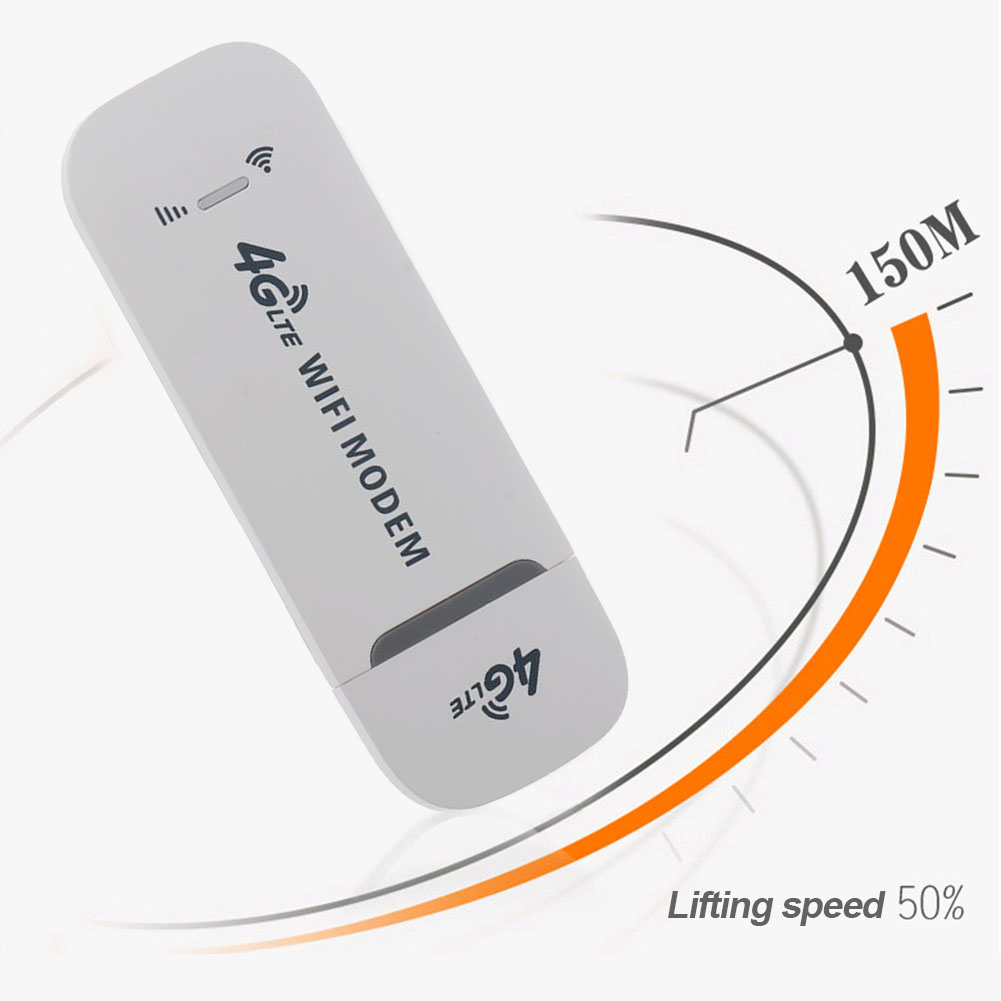 150Mbps 4G LTE USB Modem Adapter Wireless USB Network Card Universal Wireless Modem White 4g WiFi Router for Notebook Laptop