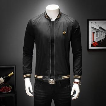 Newest Fashion Designer Brand O-neck Men Jackets Solid Men Bomber Jacket Baseball Outerwear Coats Black White M-4XL 5XL 2111