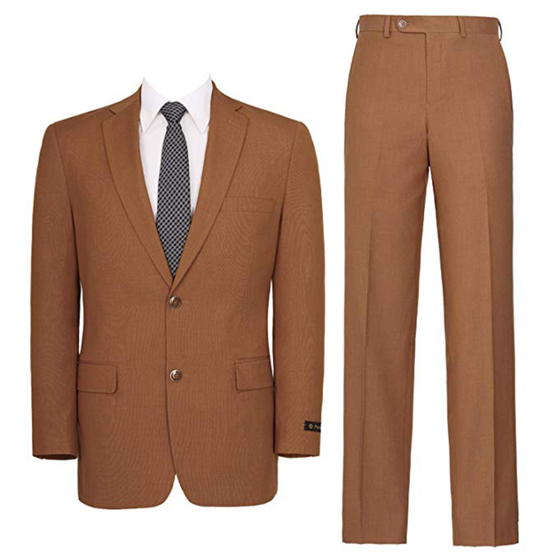 Brown Groom Tuxedo Wedding Suits For Men Blazer Shawl Lapel Costume Homme Slim Fit Terno Masculino 2Piece Prom Suits Pants