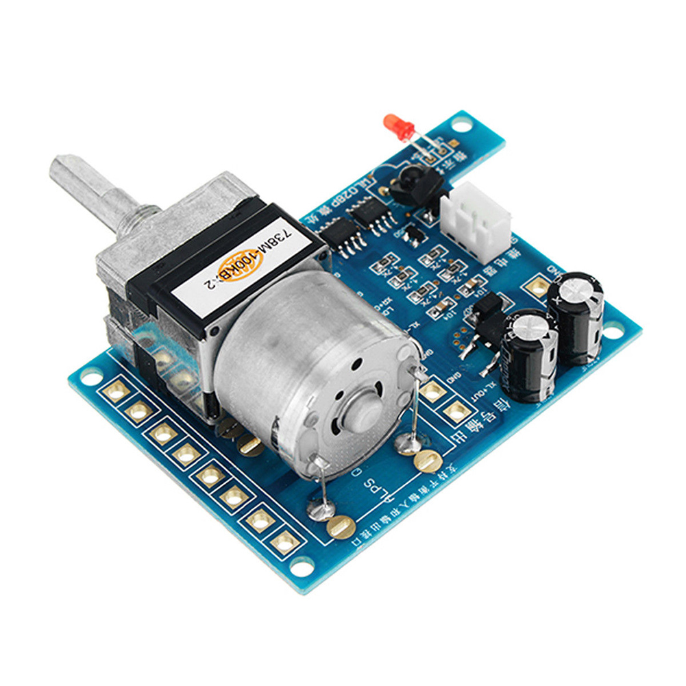 Electric Infrared Audio Amplifier With Indicator Light Volume Control Board Remote Control Components Potentiometer Durable
