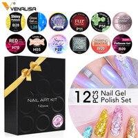 12 stücke Venalisa Magnetische Thermo Glitter Opal Shell Gel Polish Nail art Design 5ml Emaille UV Gel Nagellack lack Lack Gel