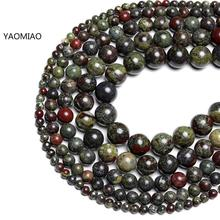 Wholesale AAA+ Natural Dragons Blood Stone Beads For Jewelry Making DIY Bracelet Necklace 6/8/10 mm Material Strand 15'' wholesale 12 18 mm stick shape lapis lazuli blue stone beads for jewelry making diy necklace bracelet material strand 15