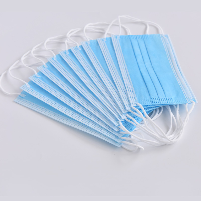 50 Pcs In Stock Anti-Pollution Face Mouth Mask Dust Filter Safety 3 Layer Disposable Elastic Ear Loop Dust Protection Face Masks 5