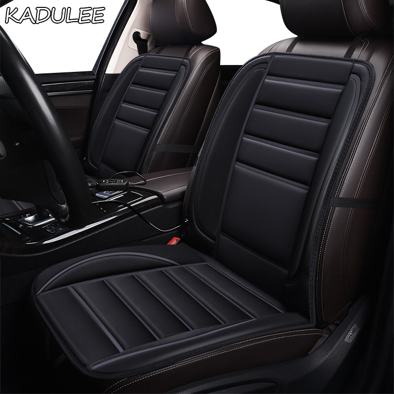 KADULEE 12V Heated car seat cover for Jaguar all models F-PACE XE XJ XF XEL XJL XFL winter cushions car styling