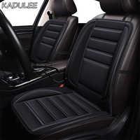 KADULEE-funda calefactable para asiento de coche, 12V, Para Jaguar, todos los modelos, F-PACE XE XJ XF XJL XFL, cojines de invierno, estilo de coche