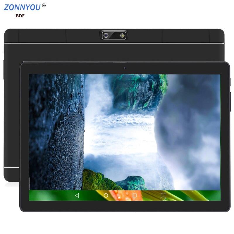 2019 nouveau 10.1 pouces tablette Pc 4G/3g appel téléphonique Android 8.0 Octa Core 6GB + 128GB tablettes WiFi Bluetooth double SIM 10.1 pouces tablette