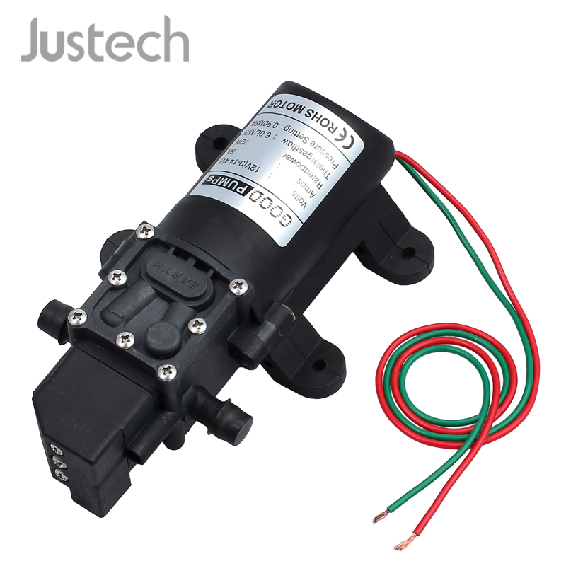 Justech DC 12V 60W High Pressure Micro Diaphragm Water Pump Automatic Switch 5L/min For RV Camper Marine Boat Lawn