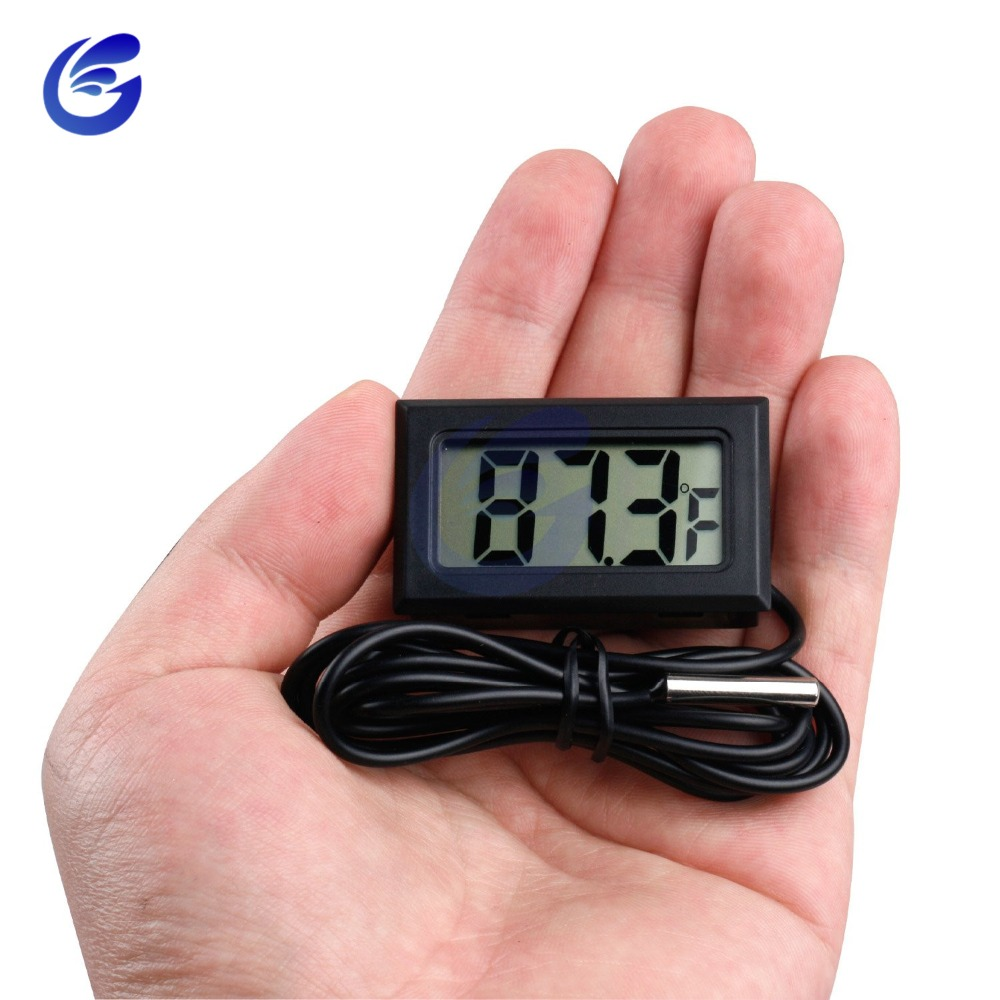 Digital LCD Thermometer Precision Electronic Termometers With Probe 1M Wire Measuring Temperature -50~ 110 Degree For Aquarium