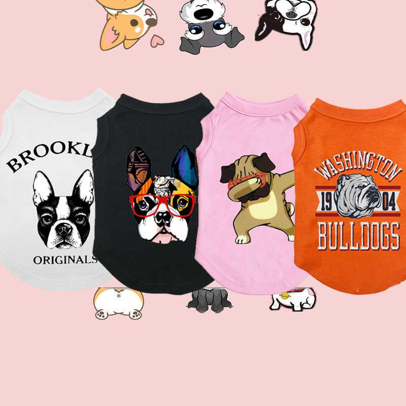 Del fumetto Vestiti New Pet Per Cani Primavera Estate Gli Animali Domestici Vestiti Per Le Piccole Medie Grandi Animali Domestici Del Cane Costumi Abbigliamento Bulldog Francese
