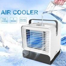 Refrigerador de ar ventilador mini desktop condicionador de ar com luz noturna mini usb 1800ml ventilador de refrigeração água umidificador portátil do agregado familiar novo