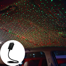 USB Car Roof Star Light Universal Disco Stage Sky Projector Laser Night Lamp for Wedding New Year Christmas Interior Decorative