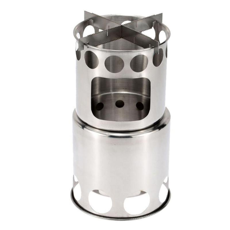 Outdoor Camping Stove Portable Stainless Steel Wood Stove Camping Equipment for Outdoor image