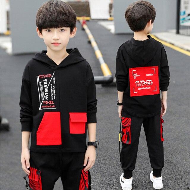 spring autumn kids cotton clothes sets Boys' Leisure Suit Coat + Boys' pants Sportswear Students Trousers 4