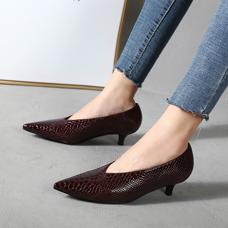 2020 NEW HOT Women Shoes Pointed Toe Pumps Patent Leather Dress High Heels Boat Shoes Wedding Shoes Zapatos Mujer Black Wine Red