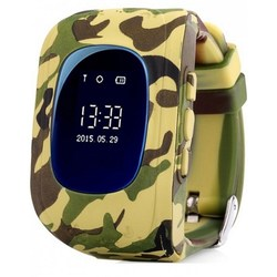 Kids smart watch with GPS CARCAM Q50 woodland camouflage