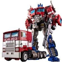 New 18cm Robot Transformation Toys Alloy+pvc Edition Anime Action Figure Deformed Car Model Boy Kids Gift