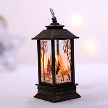 Christmas Day Light Decora Table Standing Decora Natal Ornaments Party Home Indoor Outdoor Snowman Xmax Santa Claus Figurines