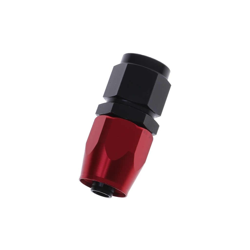 Universel AN8 droit 45 90 180 degrés huile carburant pivotant tuyau extrémité en alliage d'aluminium raccord huile tuyau fin adaptateur noir et rouge