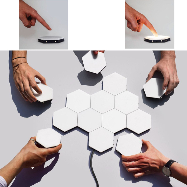 Quantum-lamp-led-Night-Light-moon-Honeycomb-Night-Lamp-Wall-Lamp-Lights-Smart-modular-touch-sensitive
