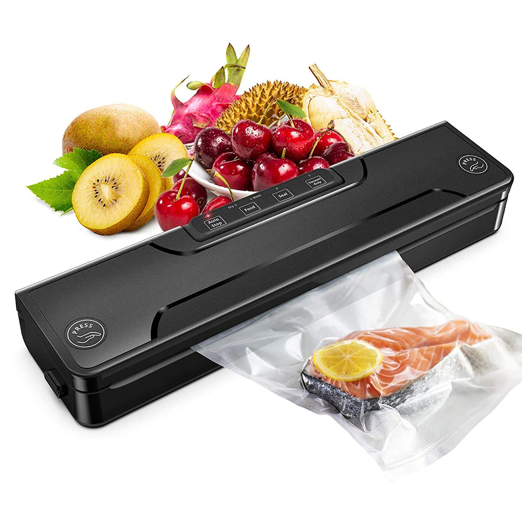 Best food vacuum packing machine  110V automatic commercial household  Kitchen food vacuum packing machine with Bags US Plug