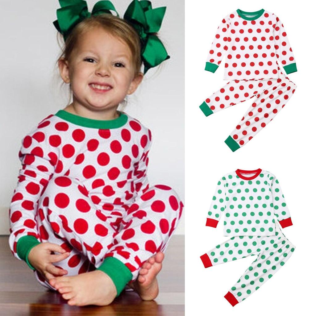 Christmas polka dot pajamas
