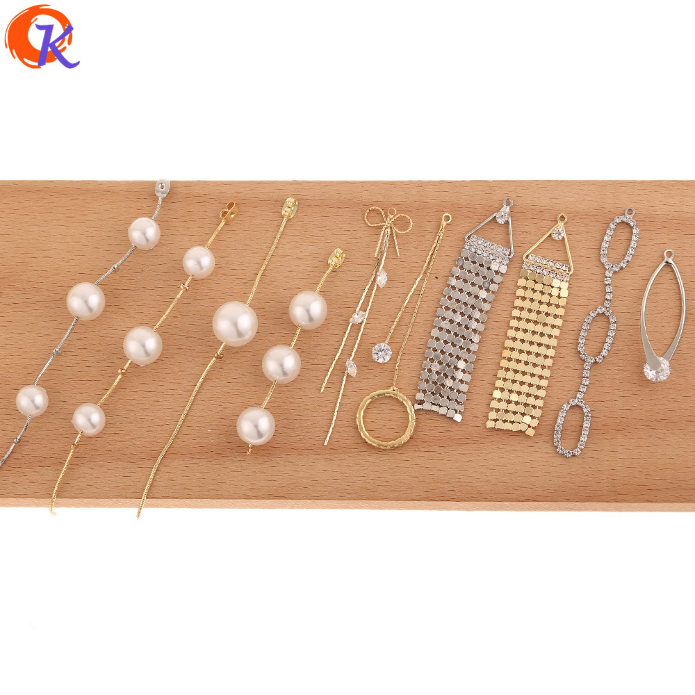 Cordial Design 50Pcs Jewelry Accessories/Connectors For Earring/Claw Chain/DIY Making/Imitation Pearl/Hand Made/Earring Findings
