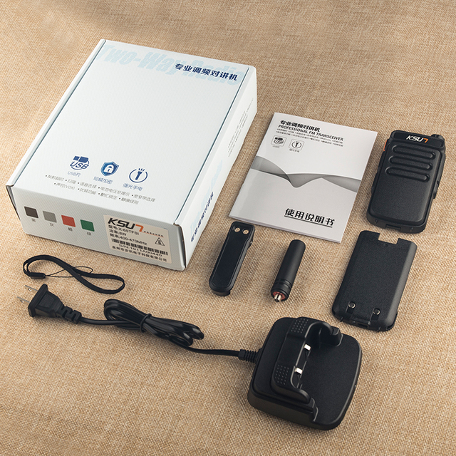 1 Or 2PCS KSUN X65 Talkie Walkie Scanner  UHF Walkie Talkie 10KM Two Way Ham Radio Station Radio  Comunicador Walkie-talkie 6