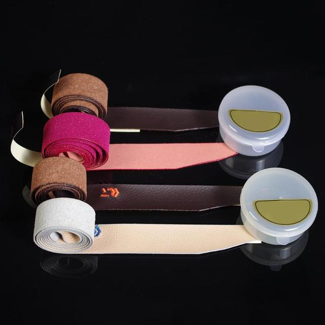 Breathable Leather Sweatband Tapes Fishing Rod Belt Badminton Racket Cover Wrap Tapes Non-slip Sweat Absorbing Belts