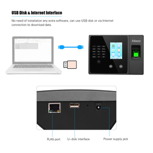 Image 5 - Aibecy Biometric Fingerprint Time Attendance Machine with HD Display Screen Support Face Fingerprint Password Multi language