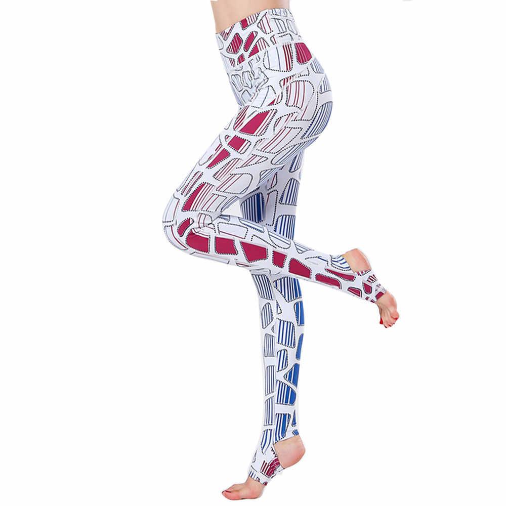 Leggings de Yoga de cintura alta con estampado de pie ajustado ropa deportiva para acondicionamiento físico para mujeres leggins de deporte para gimnasio mallas deportivas