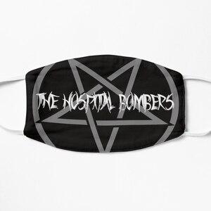 Пылезащитная маска с фильтром для больничных бомбардировщиков-с надписью «Hail Satan»! (серая и белая) маска для лица