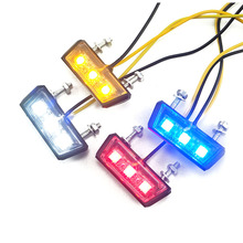 цена на 12V Motorcycle Rear Brake LED Tail Stop Light Lamp For Dirt Taillight Rear License Plate Light Accessories Decorative Lamp