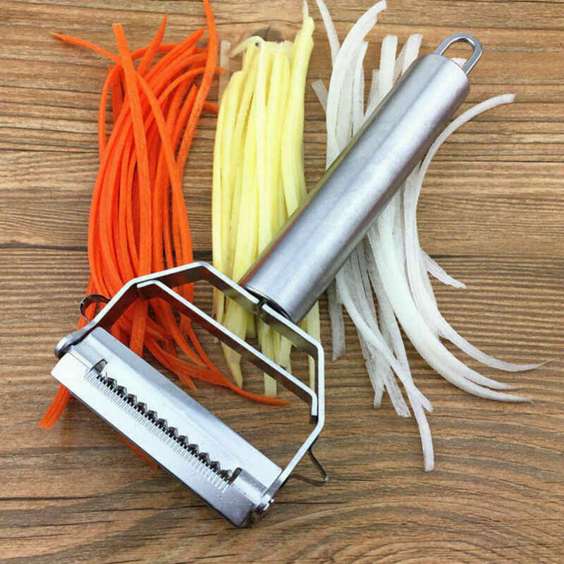 New 2020 Vegetable Potato Slicer Cutter French Fry Stainless Steel Chopper Chips Making Tool Potato Cutting Kitchen Gadgets