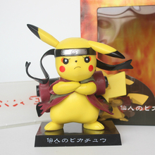 2020 Cute Pikachu Cosplay Naruto 13CM Model Ornaments Collection Gifts Home Decorations