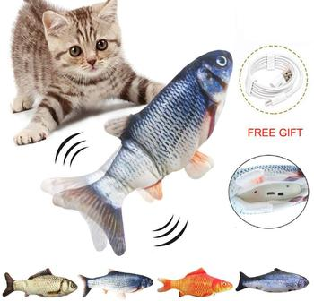 Electronic Pet Cat Toy Electric USB Charging Simulation Fish Toys 1
