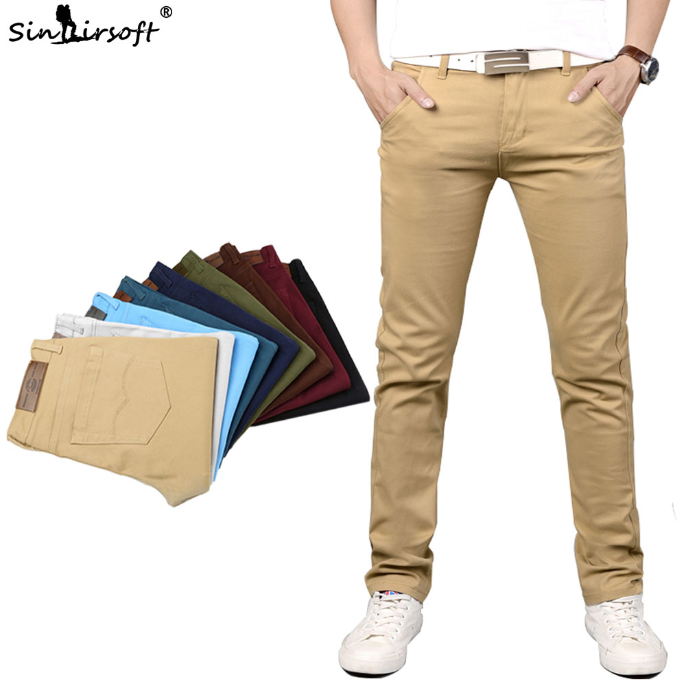 New Design Casual Men Pants Cotton Slim Pant Straight Trousers Fashion Business Solid Pants Men Pantalon Pantalones Hombre Homme