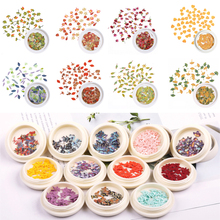 Mixed Simulation Leafs Butterflies Filling Wood Pulp Chips Nail Art Accessories Grass For DIY Epoxy Resin Mold Decoration