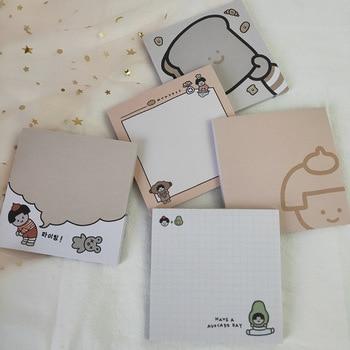 цена Cartoon Girl Bread Cute Memo Pads Student Message Notes Paper Creative School Supplies Notebook Notepad Agenda Kawaii Stationery онлайн в 2017 году