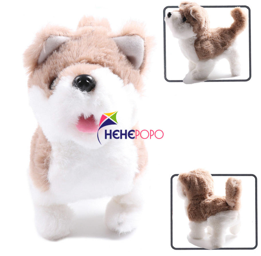 Lovely Plush Electronic Dogs Interactive Electronic Pets Robot Dog Bark Stand Walk Electronic Toys Dog For Kids Baby Gifts