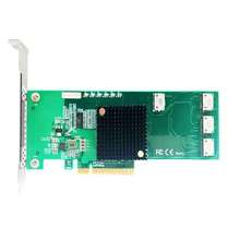 Connector Oculink Sff8639 Riser Pcie Quad-Port Nvme-Controller Ceacent X8 SSD 12gbs ANOL4PE08