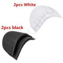 2 pares de almohadillas de hombro acolchadas suaves con cifrado de costura de espuma almohadillas de hombro para ropa Blazer camiseta accesorios de costura ACC43-3