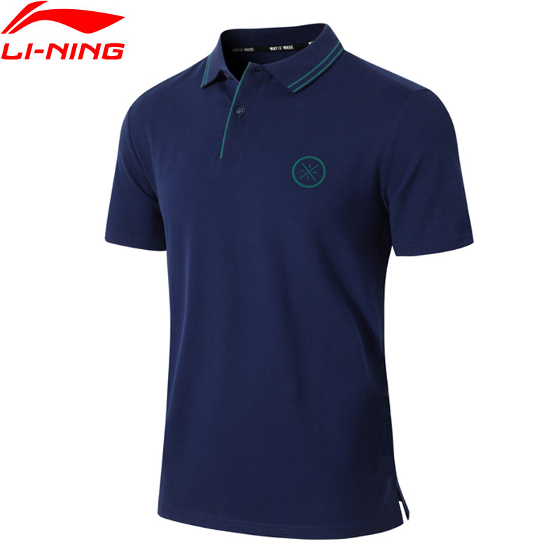 (Break Code)Li-Ning Men Wade Polo Shirt Breathable 96% Cotton 4% Spandex LiNing Li Ning Sports T-shirts Tops APLP067 MTP499