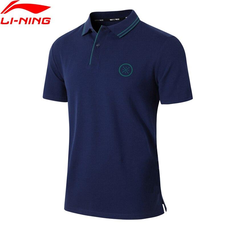 (Break Code)Li-Ning Men Wade Polo Shirt Breathable 96% Cotton 4% Spandex LiNing Li Ning Sports T-shirts Tops APLP067 MTP499