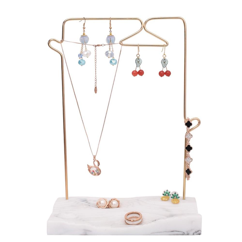Resin Metal Jewelry Storage Rack Geometry Gold Ring Necklace Bracelet Display Storage Rack Holder Organization for Home Decor